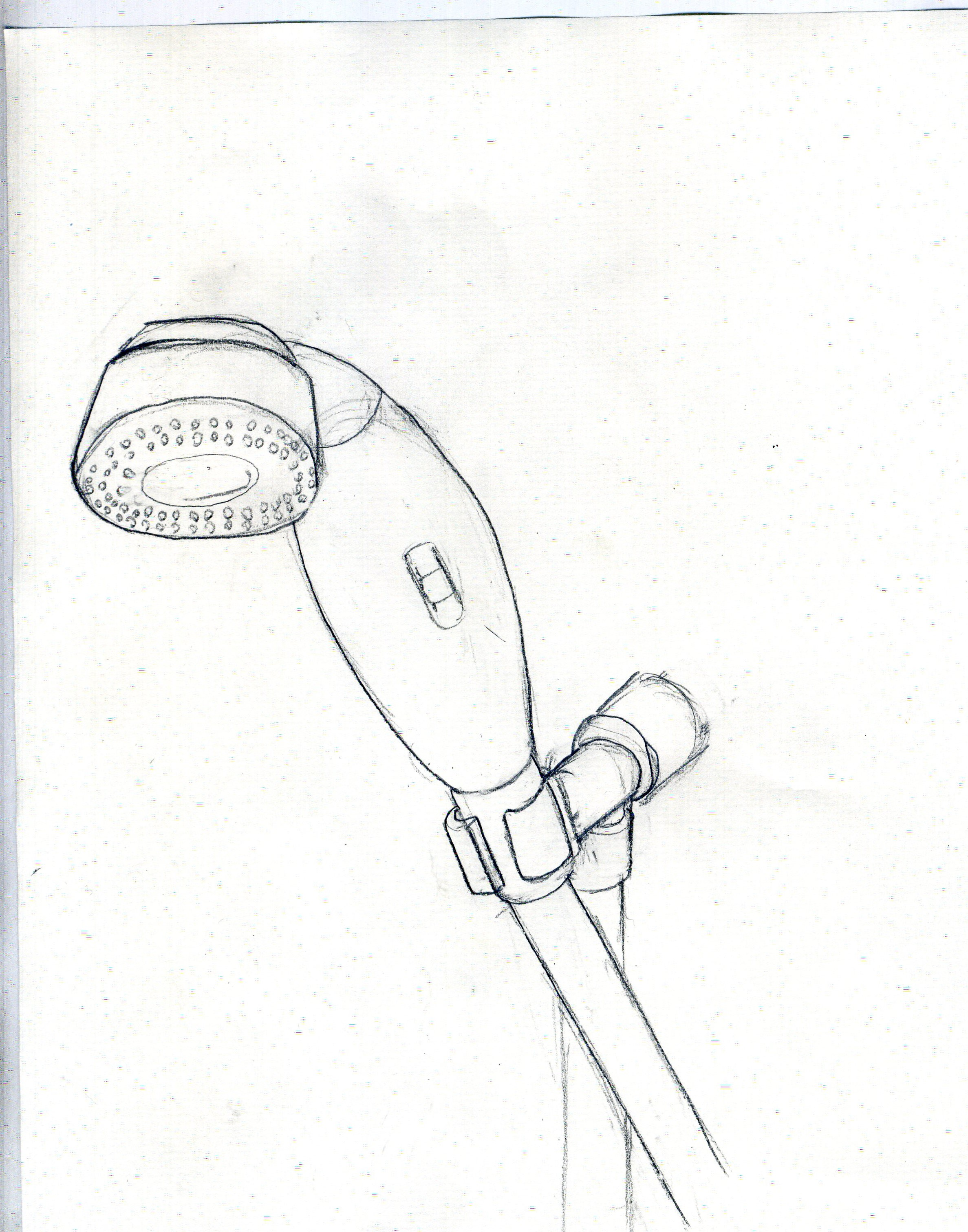 Brilliant Shower Head Drawing For Design